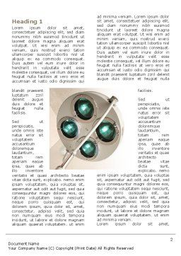 Illumination Of The Operation Room Word Template, First Inner Page, 03314, Medical — PoweredTemplate.com
