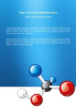 Molecular Grade Word Template, Cover Page, 03315, Technology, Science & Computers — PoweredTemplate.com