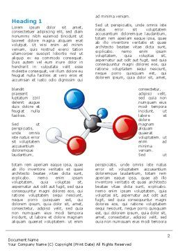 Molecular Grade Word Template, First Inner Page, 03315, Technology, Science & Computers — PoweredTemplate.com