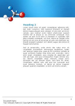 Molecular Grade Word Template, Second Inner Page, 03315, Technology, Science & Computers — PoweredTemplate.com