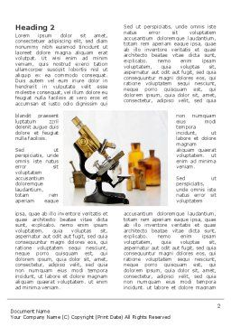 Microscope Word Template, First Inner Page, 03316, Medical — PoweredTemplate.com