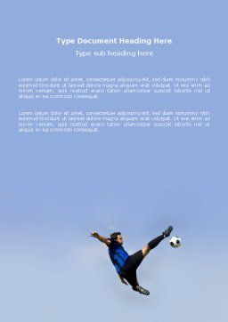 Football Ballet Word Template, Cover Page, 03318, Sports — PoweredTemplate.com