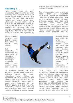 Football Ballet Word Template, First Inner Page, 03318, Sports — PoweredTemplate.com