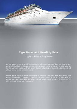 Sea Liner Word Template, Cover Page, 03319, Cars/Transportation — PoweredTemplate.com