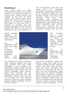 Sea Liner Word Template, First Inner Page, 03319, Cars/Transportation — PoweredTemplate.com
