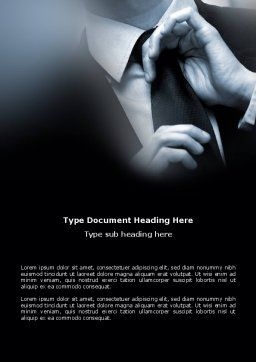 Business Style Accentuation Word Template, Cover Page, 03320, Business — PoweredTemplate.com