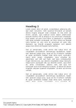 Business Style Accentuation Word Template, Second Inner Page, 03320, Business — PoweredTemplate.com