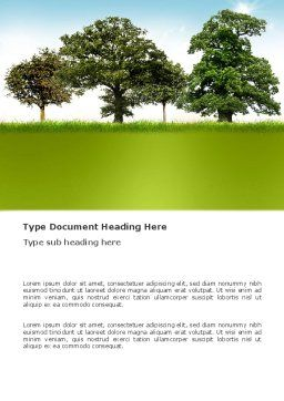 Trees Word Template, Cover Page, 03321, Nature & Environment — PoweredTemplate.com