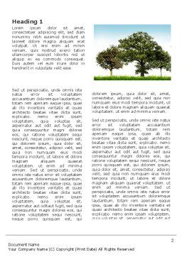 Trees Word Template First Inner Page