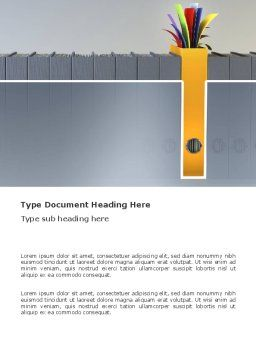 Document Filing Word Template, Cover Page, 03322, Business Concepts — PoweredTemplate.com