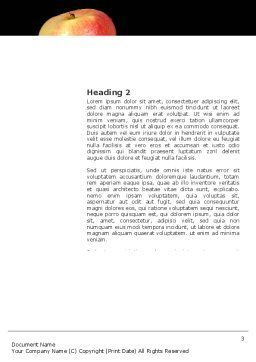 Reflection Of Apple In Hand Word Template, Second Inner Page, 03326, Business Concepts — PoweredTemplate.com