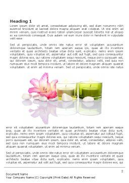 SPA Treatment Word Template, First Inner Page, 03328, Careers/Industry — PoweredTemplate.com