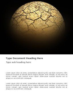 Desert Planet Word Template, Cover Page, 03330, Nature & Environment — PoweredTemplate.com