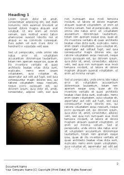 Desert Planet Word Template, First Inner Page, 03330, Nature & Environment — PoweredTemplate.com