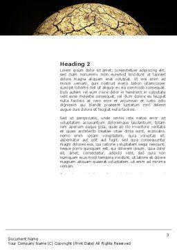 Desert Planet Word Template, Second Inner Page, 03330, Nature & Environment — PoweredTemplate.com