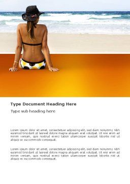 Sunny Beach Word Template, Cover Page, 03331, Holiday/Special Occasion — PoweredTemplate.com