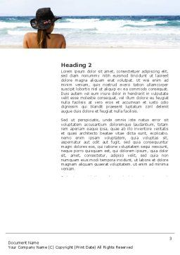 Sunny Beach Word Template, Second Inner Page, 03331, Holiday/Special Occasion — PoweredTemplate.com