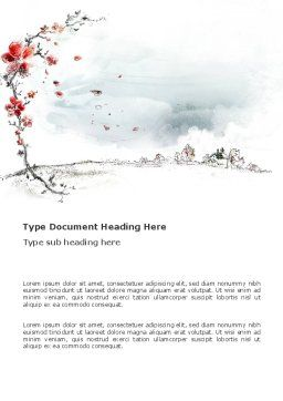 Country Landscape Word Template, Cover Page, 03333, Education & Training — PoweredTemplate.com