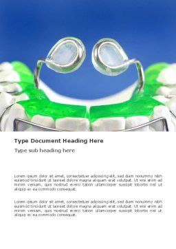 Teeth Braces Word Template, Cover Page, 03334, Medical — PoweredTemplate.com