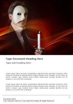 Masked Ball Word Template Cover Page