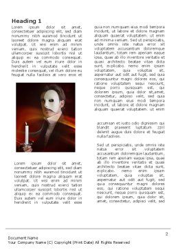 Masked Ball Word Template First Inner Page