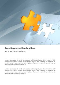 Piece of Puzzle Word Template, Cover Page, 03338, Business Concepts — PoweredTemplate.com