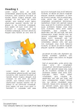 Piece of Puzzle Word Template, First Inner Page, 03338, Business Concepts — PoweredTemplate.com