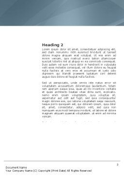 Piece of Puzzle Word Template, Second Inner Page, 03338, Business Concepts — PoweredTemplate.com