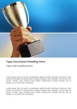 Prize Cup Word Template, Cover Page, 03341, Business Concepts — PoweredTemplate.com