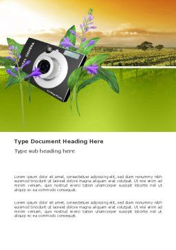 Digital Camera Word Template, Cover Page, 03342, Technology, Science & Computers — PoweredTemplate.com