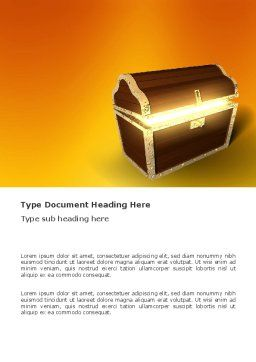 Treasure Word Template, Cover Page, 03343, Business Concepts — PoweredTemplate.com