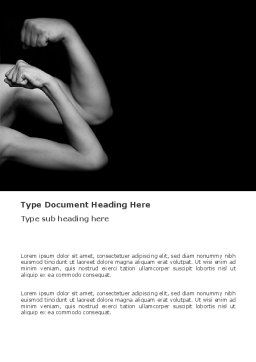Muscles Word Template, Cover Page, 03346, Sports — PoweredTemplate.com