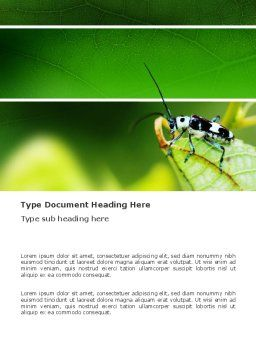 Bug's Life Word Template, Cover Page, 03347, Agriculture and Animals — PoweredTemplate.com