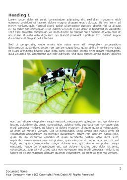 Bug's Life Word Template, First Inner Page, 03347, Agriculture and Animals — PoweredTemplate.com