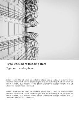 3D Architecture Projecting Word Template, Cover Page, 03348, Construction — PoweredTemplate.com