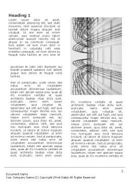 3D Architecture Projecting Word Template, First Inner Page, 03348, Construction — PoweredTemplate.com
