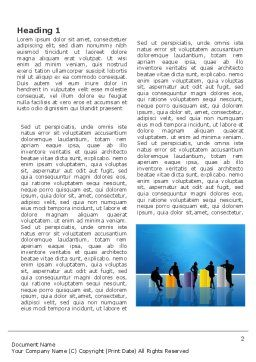 Sociology Word Template, First Inner Page, 03349, Consulting — PoweredTemplate.com