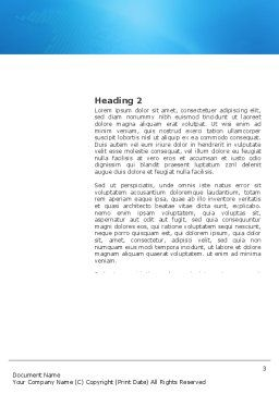 Sociology Word Template, Second Inner Page, 03349, Consulting — PoweredTemplate.com