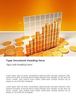 Treasure Diagram Word Template, Cover Page, 03350, Financial/Accounting — PoweredTemplate.com