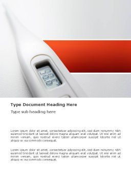 Electronic Thermometer Word Template, Cover Page, 03351, Medical — PoweredTemplate.com