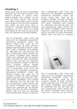 Electronic Thermometer Word Template, First Inner Page, 03351, Medical — PoweredTemplate.com