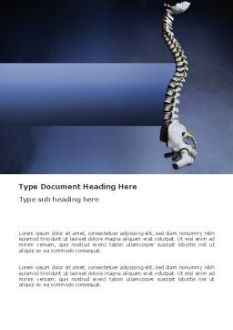 Backbone Word Template, Cover Page, 03354, Medical — PoweredTemplate.com