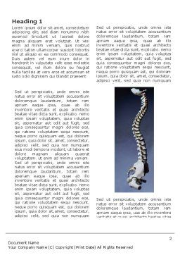 Backbone Word Template, First Inner Page, 03354, Medical — PoweredTemplate.com