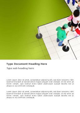 Queue Word Template, Cover Page, 03355, Consulting — PoweredTemplate.com