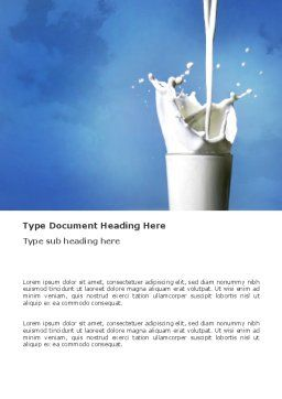 Glass Of Milk Word Template, Cover Page, 03357, Food & Beverage — PoweredTemplate.com