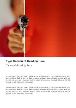 Fire Arms Word Template, Cover Page, 03363, Legal — PoweredTemplate.com