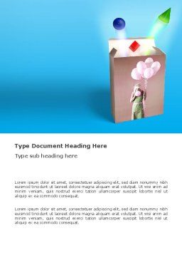 Balloon Box Word Template, Cover Page, 03365, Holiday/Special Occasion — PoweredTemplate.com