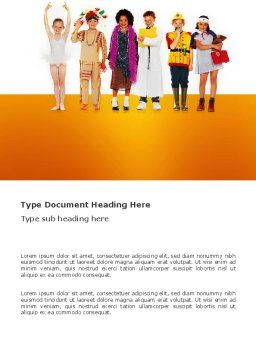 Children's Costumes Word Template Cover Page