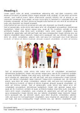 Children's Costumes Word Template First Inner Page