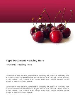 Ripe Cherries Word Template, Cover Page, 03367, Agriculture and Animals — PoweredTemplate.com